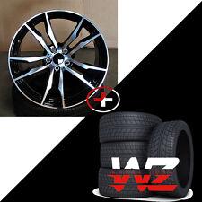 "20"" X5 Style Black Machined Wheels With Tires Fits BMW X5 X6 X5M X6M XDrive"