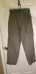 White Sierra XLG Green Convertible Cargo Zip Off Casual Pants