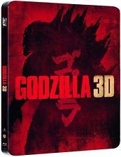 Godzilla 3D (2014) - Limited Edition Steelbook (Blu-ray 2D/3D) NEW!! Zavvi UK