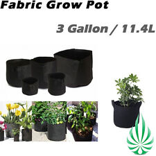 10x Hydroponic 3 Gallon Plant Fabric Grow Pot Grow Bags Flower Tree Air Grow Pot