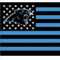 Carolina Panthers 3x5 Foot American Flag Banner New