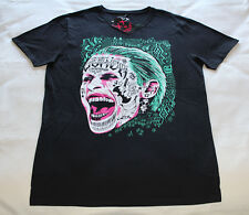 DC Comics Suicide Squad Joker Face Mens Black Short Sleeve T Shirt Size S New
