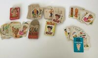 Lot Of 5 Vintage Old Maid Card Games Whitman Western