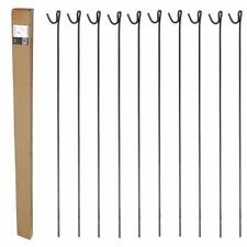 METAL STEEL BARRIER FENCING FENCE PINS STAKES POSTS ROAD PINS 1.25m Pack of 10