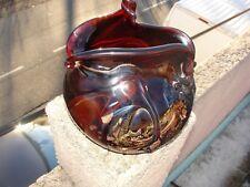 Gros Vase pate de verre signé par Bob Le Bleïs maitre verrier à Maure Vieil .
