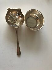 SILVER PLATE MAPPIN & WEBB TEA STRAINER WITH STAND