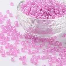 LOT DE 500 PERLES DE ROCAILLE ROSE MAUVE Ø 4 mm 6/0 CREATION BIJOUX
