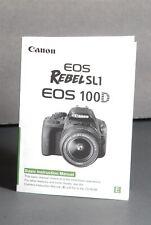New listing Canon Eos Rebel Sl1 / 100D Genuine Camera Instruction Book / Manual / User Guide