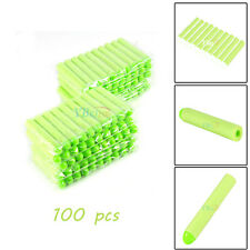 100Pcs Kids Gun Shoot Refill Bullet Darts Nerf N-Strike Elite Toy Set Green US