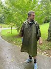 Convertible Ripstop Poncho & Tarp. Grommets. Snaps. Military. Forest Green.