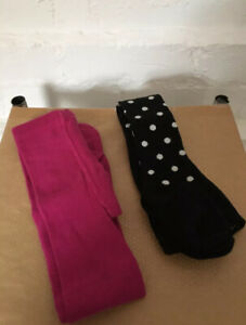 Girls X2 Matalan Tights Age 12-18months Pink/black Minnie Mouse
