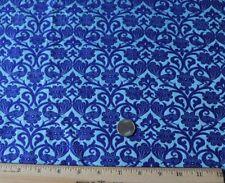 "Vintage c1920s Persian Woven Silk Fabric Yardage~Purple & Blue~ L-77"" X W-45"""