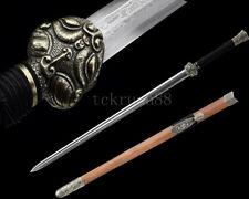 High Quality Traditional Handmade Chinese Sword Han Jian Folded Steel Rosewood