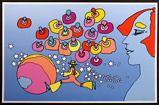 """Peter Max """"Cosmic Runner III"""" Hand Signed Limited Ed Serigraph Pop Art 1978 OBO!"""