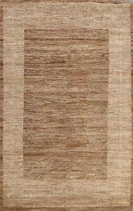 Contemporary Earth-tone 6x8 Gabbeh Kashkoli Oriental Area Rug Hand-knotted Wool