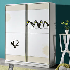 Penguin Fun Kitchen Fridge Sticker Dining Decorative Wall Stickers Home Decor Black