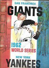 1962 World Series Program Giants-Yankees Game 6 Pierce Stifles Yanks!!