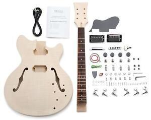 Pack de Construire Votre Popre Guitare Electrique Fait Maison Style Hollow Body
