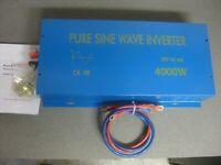 Pure Sine Wave 4000W 24V DC to 120V AC Power Inverter -Back Up- Off Grid - Home