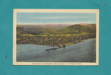 Ariel View of Campbellton New Brunswick R.C. A. F. Photo Vintage Postcard Ships
