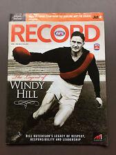 ESSENDON Vs HAWTHORN Round 11 2008 AFL Football Record Bill Hutchison Cover