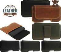 RICARDSSON CLASSIC GENUINE LEATHER BELT LOOP HOLSTER POUCH CASE FOR APPLE PHONE