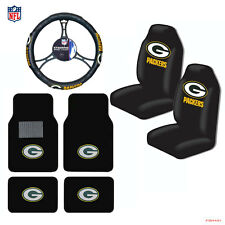New NFL Green Bay Packers Car Truck Seat Covers Floor Mats Steering Wheel Cover