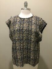 "IRO ""Eline"" Multicolour Tweed Boxy Top, Sz38 ( M-L), BNWT, RRP $489"