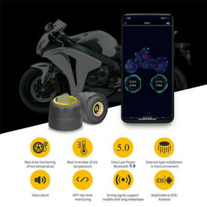 Motorcycle Bluetooth TPMS Tire Pressure Monitoring System Phone APP Detection