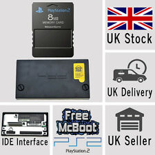 SONY PLAYSTATION2 PS2 IDE HD HARD DRIVE ADATTATORE & 8 MB MEMORY CARD mcboot