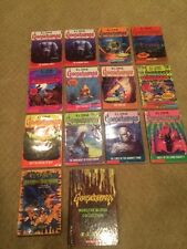 R.L. Stine Goosebumps books - lot of 13 paperback, plus one hardcover collection
