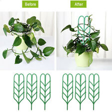 6Pcs Garden Trellis for Mini Climbing Plants Leaf Shape Potted Plant Support Us