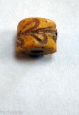 GLASS TRADE BEAD - Vintage Rolling Die Pattern Bead (Rare Item, Used)