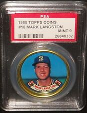 PSA 9 MINT 9 - #18 Mark Langston 1988 Topps Coins Seattle Mariners