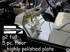 YAMAHA G2/G9 golf cart Highly Polished Aluminum Diamond Plate 5 pc Floor kit