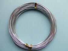 6mt  di filo in alluminio 2mm colore argento bijoux