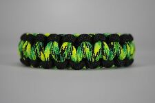 550 Paracord Survival Bracelet Cobra Black/Dragonfly Camping Military Tactical