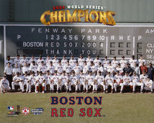 2004 BOSTON RED SOX Team Roster World Series Champions Glossy 8x10 Photo Poster