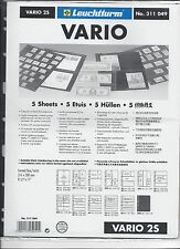 New Vario Stock Sheets 2S Two-Sided Horizontal Pockets Black Pkg 5