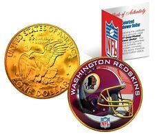 WASHINGTON REDSKINS NFL LICENSED 24K Gold Plated IKE Eisenhower Dollar U.S. Coin