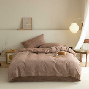 85% Cotton and 15% linen bedding set 4pcs bedding bag flat sheet 2 pillowcases