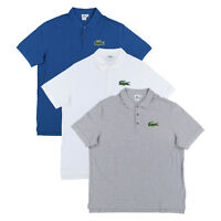 Lacoste Men Big and Tall Mesh Knit Three Button Polo Shirt Big Logo New Nwt