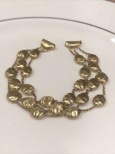 Designer MARCO BICEGO ~ 18K Yellow Gold ~ 3 STRANDS ~ Gold Bead Bracelet