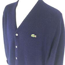 b84fa4508 Lacoste Vintage Navy Blue Alligator Cardigan Sweater Tennis Men s Size  Medium