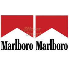 Marlboro Logo Motorcycle & Car Racing Vinyl Car Stickers x2