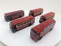 5 x Vintage Diecast Corgi and EFE Red Buses ECW Single Deck (3) Bristol & B.E.T