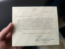 1950 Ulysses S. Grant III Typed Letter Signed Autograph and Photograph