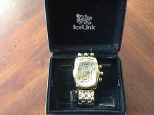 IceLink Gold Men's Wrist Watch -No 1999 Phat Ice 3ATM Water Resistant - Watches