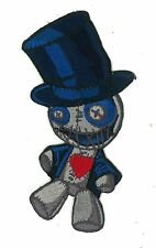 "5"" Voodoo Doll Iron-On Patch Low Brow Art Rockabilly Burlesque Plush Punk Rock"
