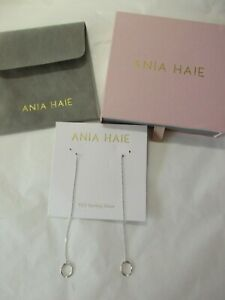 ania haie twister threader 925 sterling silver earrings